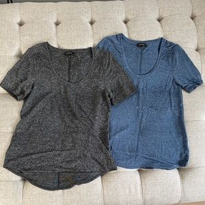 Lot of 2 Babaton Scoop neck top size small